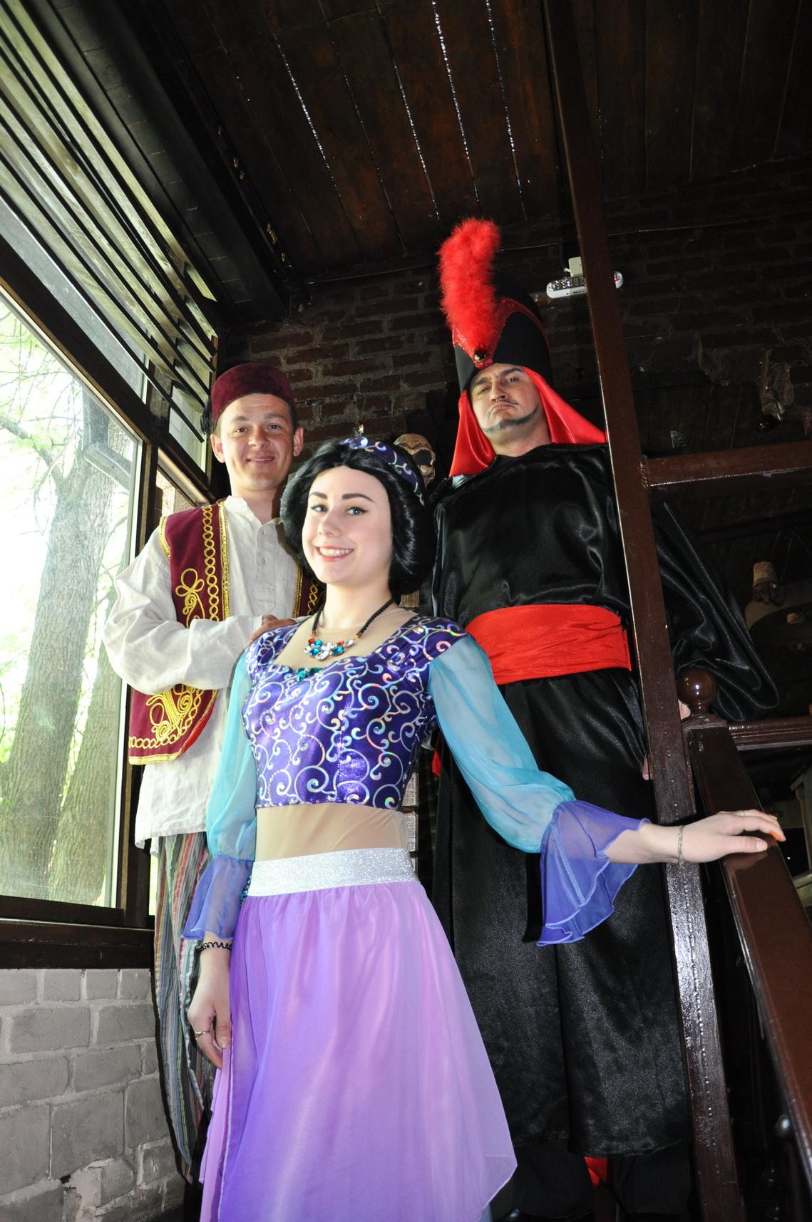Жасмин, Алладин и Джафар